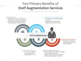 Five Primary Benefits Of Staff Augmentation Services