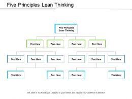 Five Principles Lean Thinking Ppt Powerpoint Presentation Ideas Graphics Design Cpb