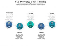 Five Principles Lean Thinking Ppt Powerpoint Presentation Model Guidelines Cpb