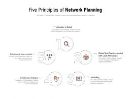 Five Principles Of Network Planning