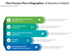 Five Process Flow Infographics Of Business Analysis