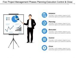 Five Project Management Phases Planning Execution Control And Close