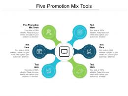 Five Promotion Mix Tools Ppt Powerpoint Presentation Tips Cpb