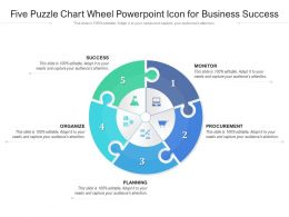 Five Puzzle Chart Wheel Powerpoint Icon For Business Success