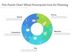 Five Puzzle Chart Wheel Powerpoint Icon For Planning