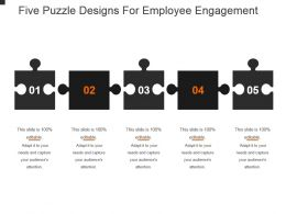 Five Puzzle Designs For Employee Engagement Powerpoint Slide Background Image