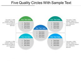 Five Quality Circles With Sample Text