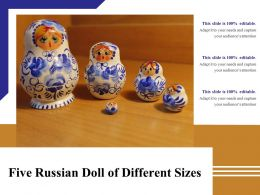 Five Russian Doll Of Different Sizes