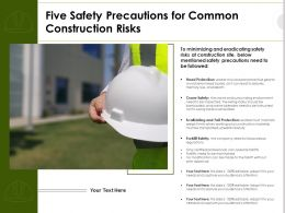 Five Safety Precautions For Common Construction Risks