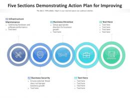 Five Sections Demonstrating Action Plan For Improving