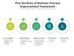 Five Sections Of Business Process Improvement Framework