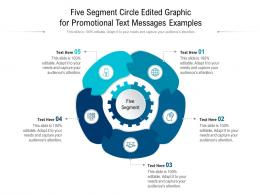 Five Segment Circle Edited Graphic For Promotional Text Messages Examples Infographic Template