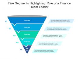 Five Segments Highlighting Role Of A Finance Team Leader Infographic Template