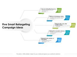 Five Smart Retargeting Campaign Ideas
