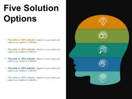 Five Solution Options Powerpoint Slide Templates Download