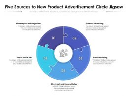 Five Sources To New Product Advertisement Circle Jigsaw
