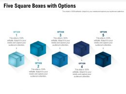Five Square Boxes With Options