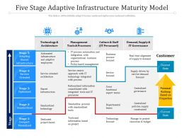 Five Stage Adaptive Infrastructure Maturity Model