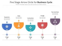 Five Stage Arrow Circle For Business Cycle