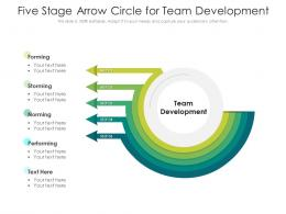 Five Stage Arrow Circle For Team Development