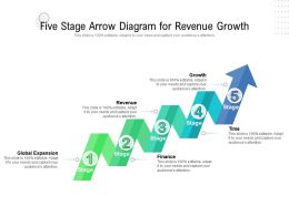 Five Stage Arrow Diagram For Revenue Growth