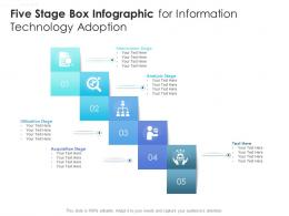 Five Stage Box Infographic For Information Technology Adoption