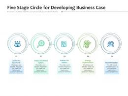 Five Stage Circle For Developing Business Case