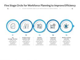 Five Stage Circle For Workforce Planning To Improve Efficiency