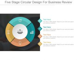 Five Stage Circular Design For Business Review Powerpoint Themes