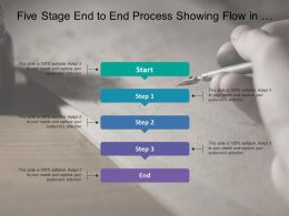 Five Stage End To End Process Showing Flow In Downward Direction