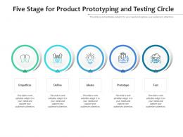 Five Stage For Product Prototyping And Testing Circle