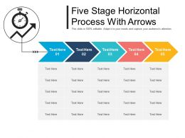 Five Stage Horizontal Process With Arrows