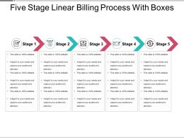 Five Stage Linear Billing Process With Boxes