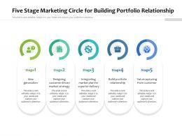 Five Stage Marketing Circle For Building Portfolio Relationship