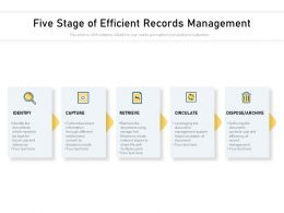Five Stage Of Efficient Records Management