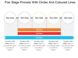 Five Stage Process With Circles And Coloured Lines