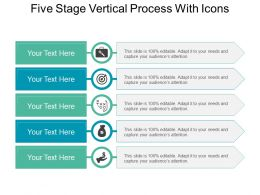 Five Stage Vertical Process With Icons