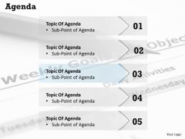 Five Staged Agenda Topic Display Diagram 0214