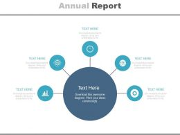 Five Staged Annual Report For Business Powerpoint Slides