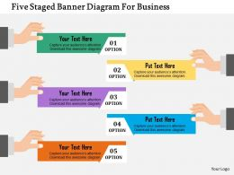 Five Staged Banner Diagram For Business Flat Powerpoint Design