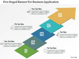 Five Staged Banner For Business Application Powerpoint Template