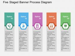 five_staged_banner_process_diagram_flat_powerpoint_design_Slide01
