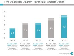 Five Staged Bar Diagram Powerpoint Template Design