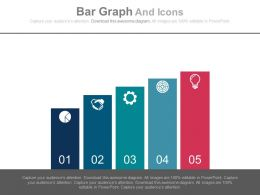 Five Staged Bar Graph And Icons Powerpoint Slides