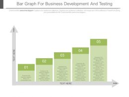 Five Staged Bar Graph For Business Development And Testing Powerpoint Slides
