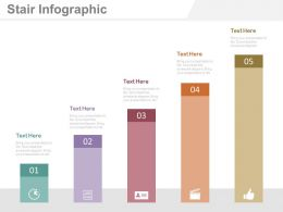 Five Staged Bar Graph For Financial Management Analysis Powerpoint Slides