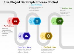 Five Staged Bar Graph Process Control Flat Powerpoint Design