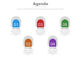 Five Staged Business Agenda Analysis Tags Powerpoint Slide