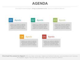 five_staged_business_agenda_diagram_powerpoint_slides_Slide01