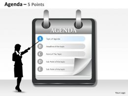 Five Staged Business Agenda Display 0214
